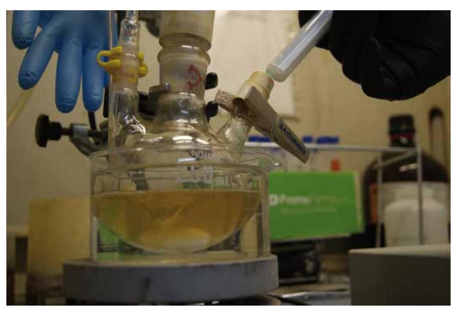 Proceso de síntesis de magnetita