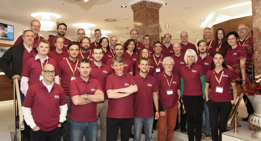 Representantes del consorcio internacional del proyecto NIMBLE, ayer, en Salzburgo (Austria).