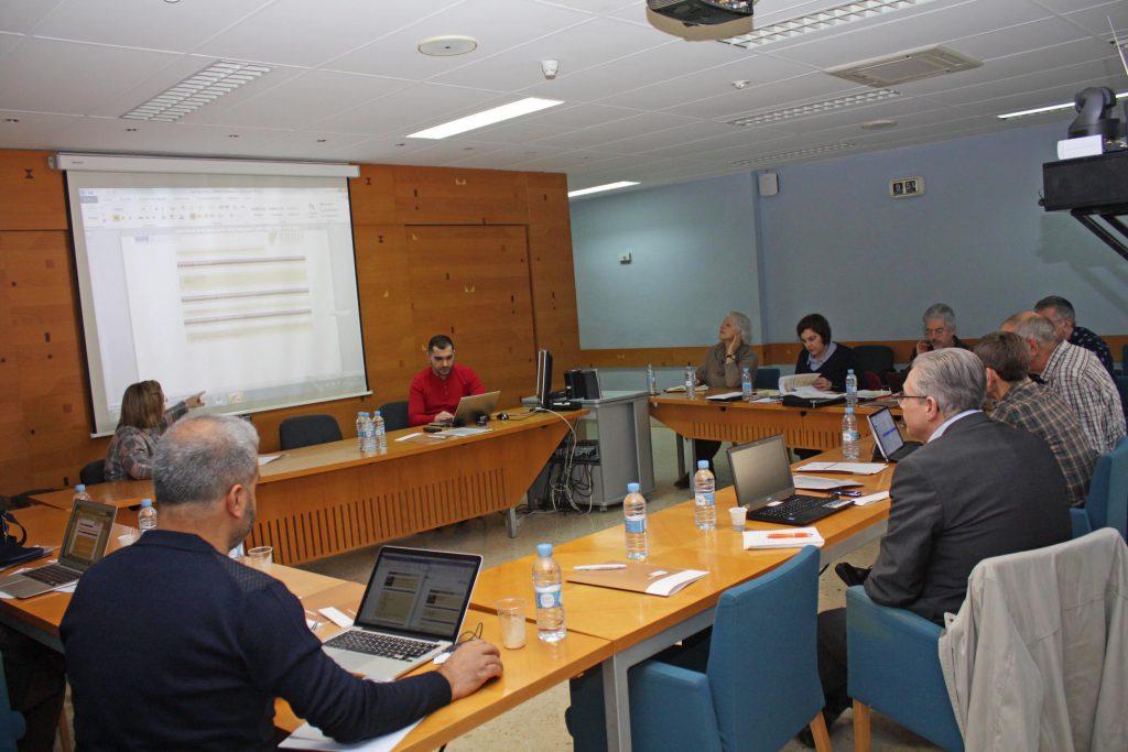 Los especialistas del proyecto EUROJOINER en una de las reuniones de la V sesión de trabajo celebradas en AIDIMME.