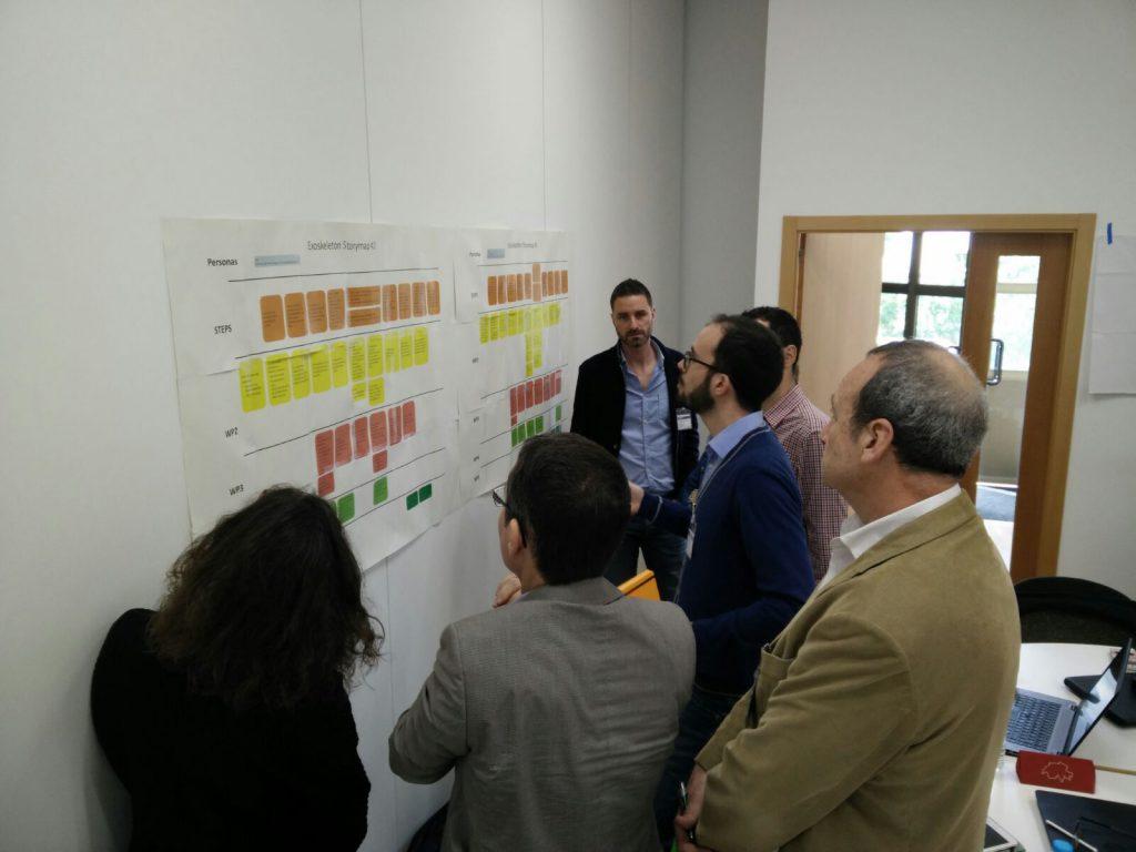 Sesión de trabajo del equipo de desarrolladores con AIDIMME y ROYO Group.