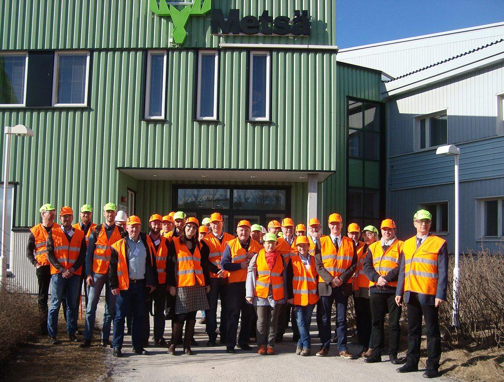 Visita a la industria de acabados en Lohja – región de Lahti, después de la Asamblea General de Innovawood, Marzo 2017