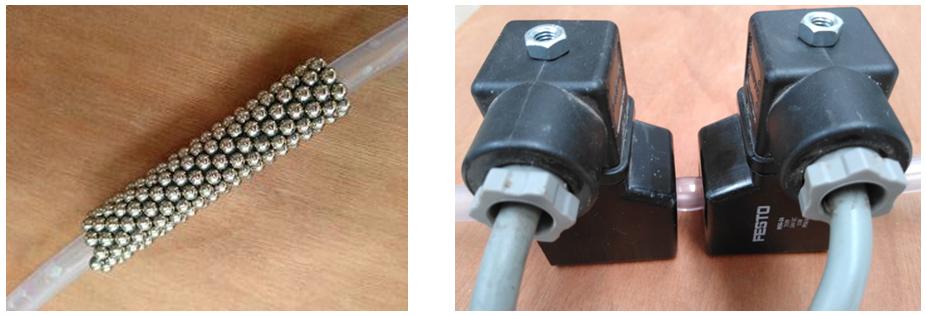Evaluación de la recuperación de los nanocompuestos mediante imanes permanentes y electroimanes