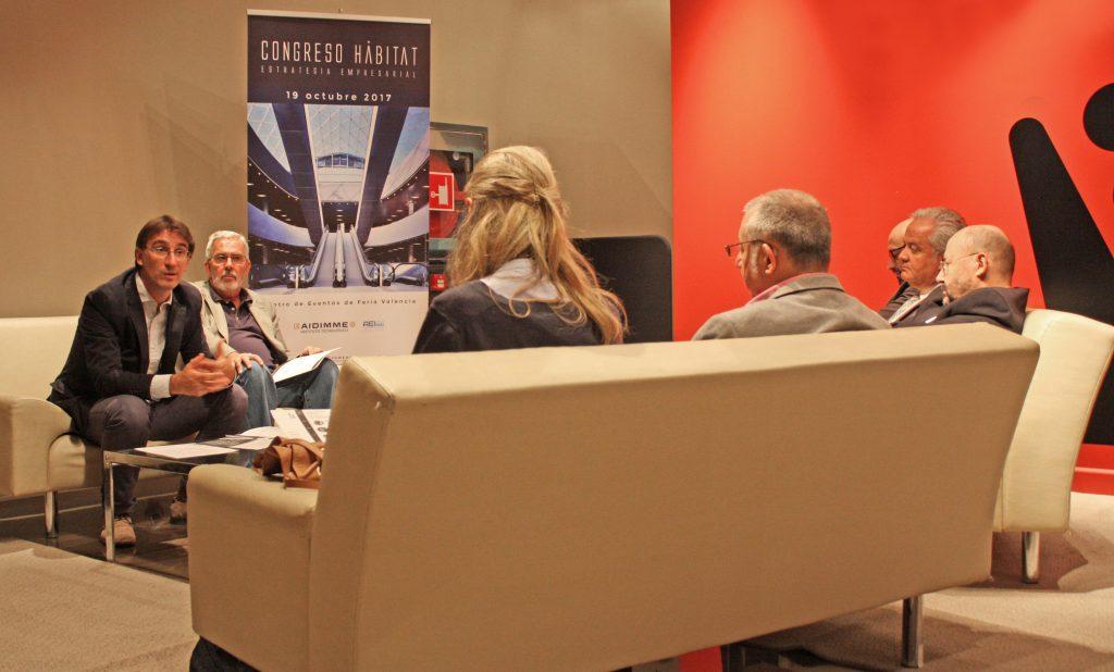Presentación del Congreso Hábitat en el Club de Prensa de Feria Valencia.