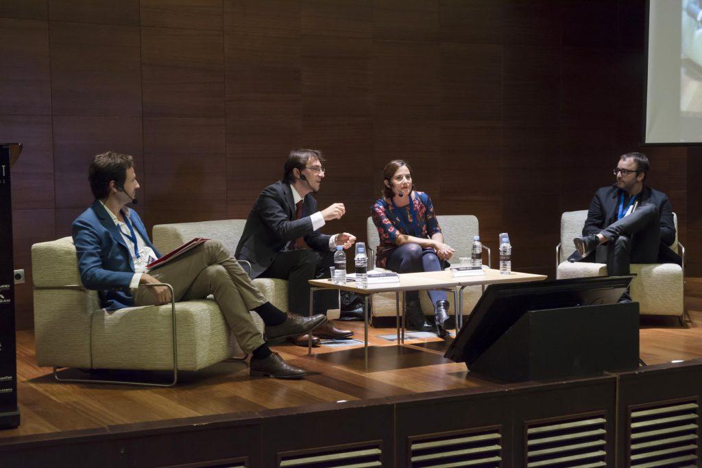 De dcha., a izda. Juan José Garrido, Vicente Sales, Soledat Berbegal y Luis Calabuig.