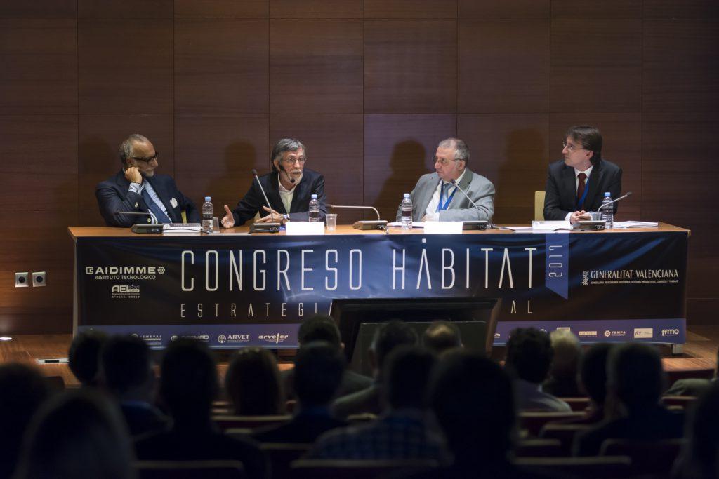 De Izda., a dcha. José María O'Kean, Ismael Quintanilla, José Manuel Boronat, y Vicente Sales.