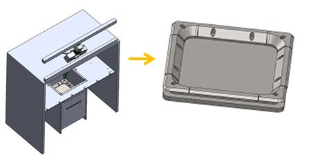 Diseño de nuevo hardware para la tecnología EBM pare evitar pérdidas y fugas de material mejorando el desplazamiento del sistema durante el reparto del polvo.