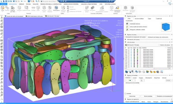 Optimización de la posición de piezas en una bandeja de fabricación para maximizar la producción.