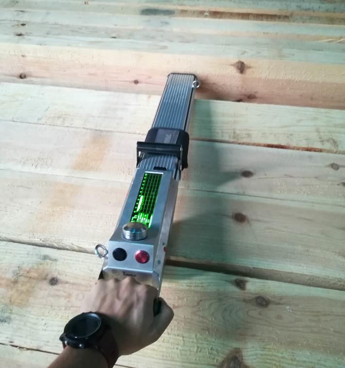 Imagen 4. Evaluación no destructiva de la resistencia mecánica de las vigas mediante tecnología de resistografía.