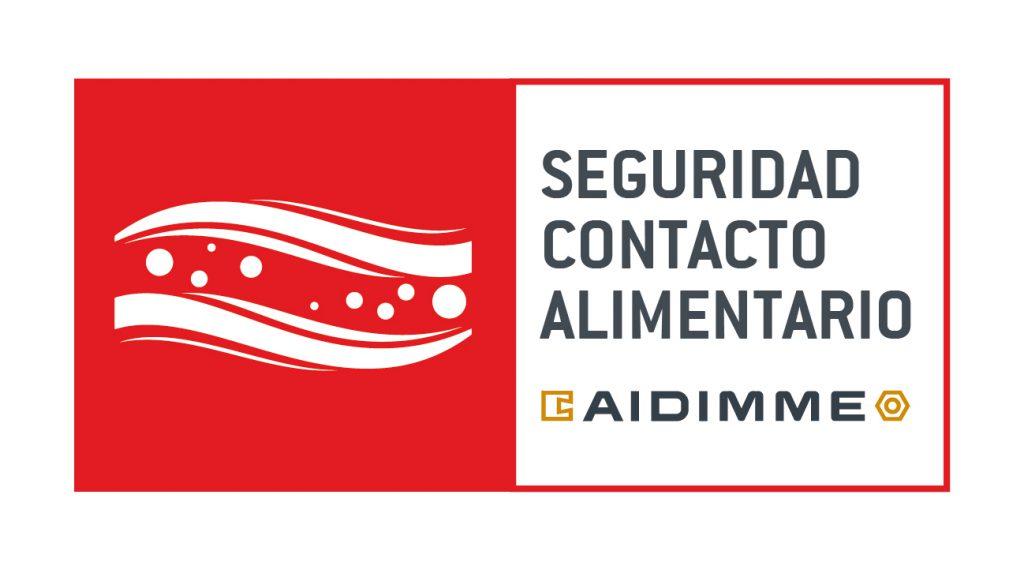 """Imagen 1.- Marca AIDIMME """"Seguridad Contacto Alimentario"""".."""