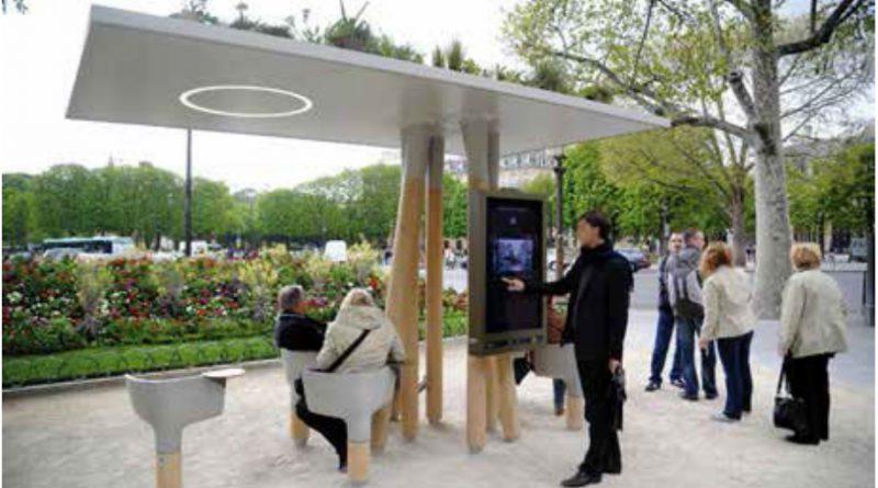 Mobiliario urbano inteligente. Fuente: JCDecaux