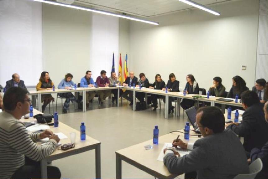 Imagen de sala de la segunda reunión del proyecto internacional TRIS, donde participan cinco regiones europeas.