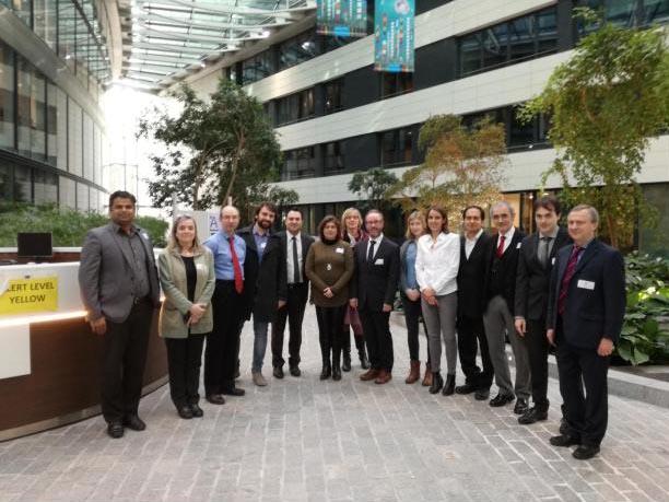 Los socios del Consorcio NANOTUN3D en la reunión del proyecto celebrada en el Covent Garden de la Comisión Europea el pasado día 2 de febrero.