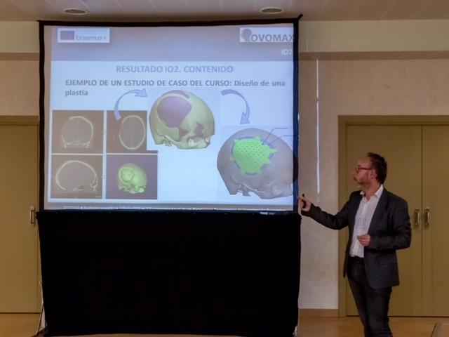 Luis Portolés de AIDIMME, durante la explicación del proyecto OVOMAX.