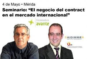 Manuel Carrillo, Director de la Delegación AIDIMME en Madrid (izda.,) y David Cámara, Secretario General de UNEX.