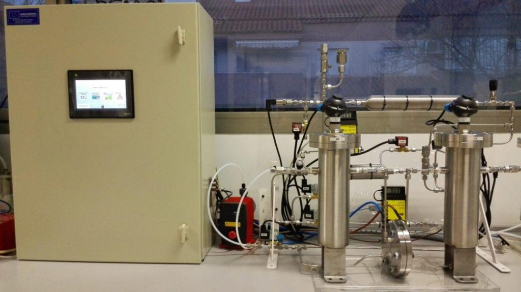 Figura 8: Banco de pruebas electrolizador PEM.