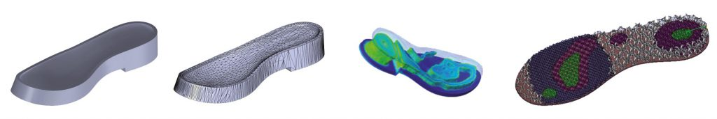 Exploración del proceso de optimización del demostrador de suela de calzado.