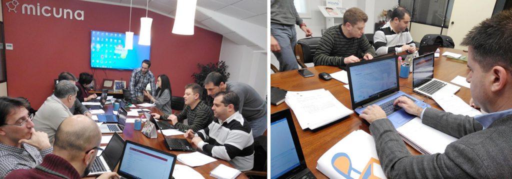 Imágenes del Workshop de validación de la plataforma celebrado en MICUNA el pasado mes de marzo.